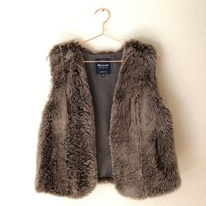 • Madewell Faux Fur Vest •